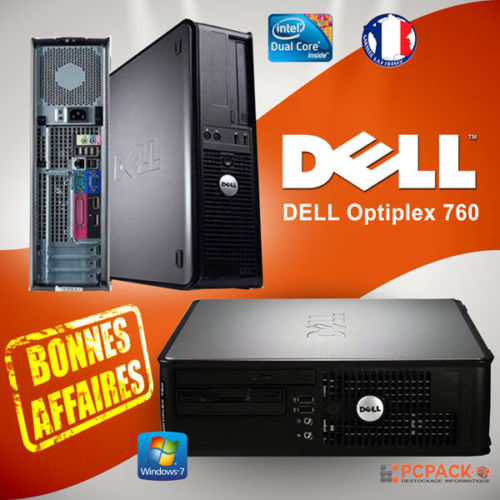 UC ORDINATEUR DE BUREAU DELL OPTIPLEX 760 SFF Intel Dual Core   2.60GHz RAM  2Go HDD 160. ba38ec1bd542
