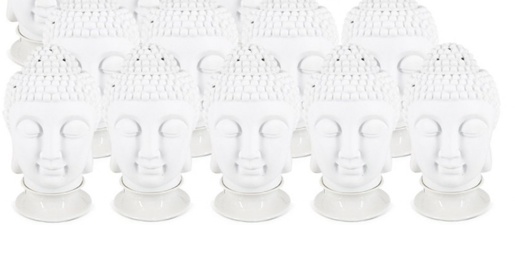 lot de 12 lampe bouddha diffuseur de parfum electrique c ramique. Black Bedroom Furniture Sets. Home Design Ideas