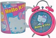 Set de réveil + mug hello kitty
