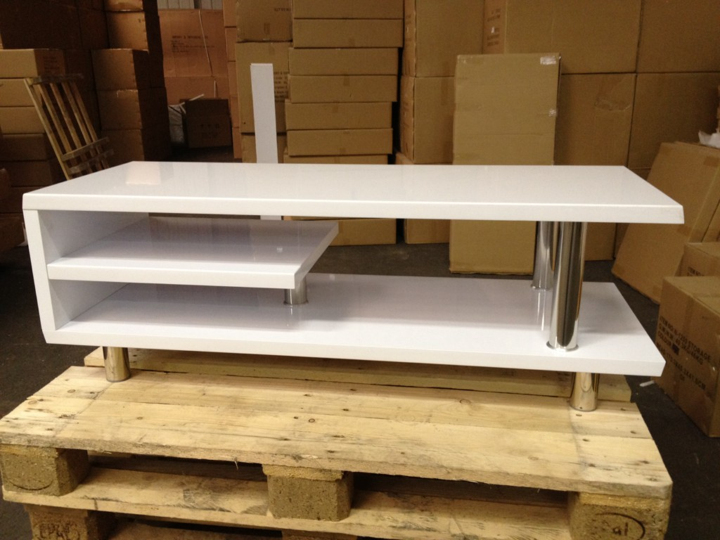 Meuble Tv Design Blanc Laqu Import Diffusion Destockage Grossiste # Fabrication Meuble