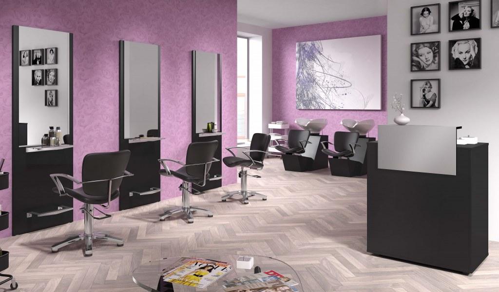Pack mobilier salon coiffure freya 2 postes destockage grossiste - Mobilier salon de coiffure occasion ...