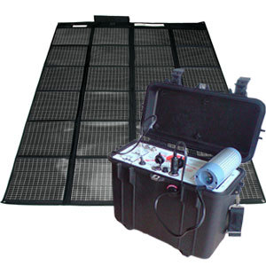 kit g n rateur solaire portable 220v 12v 200w destockage grossiste. Black Bedroom Furniture Sets. Home Design Ideas