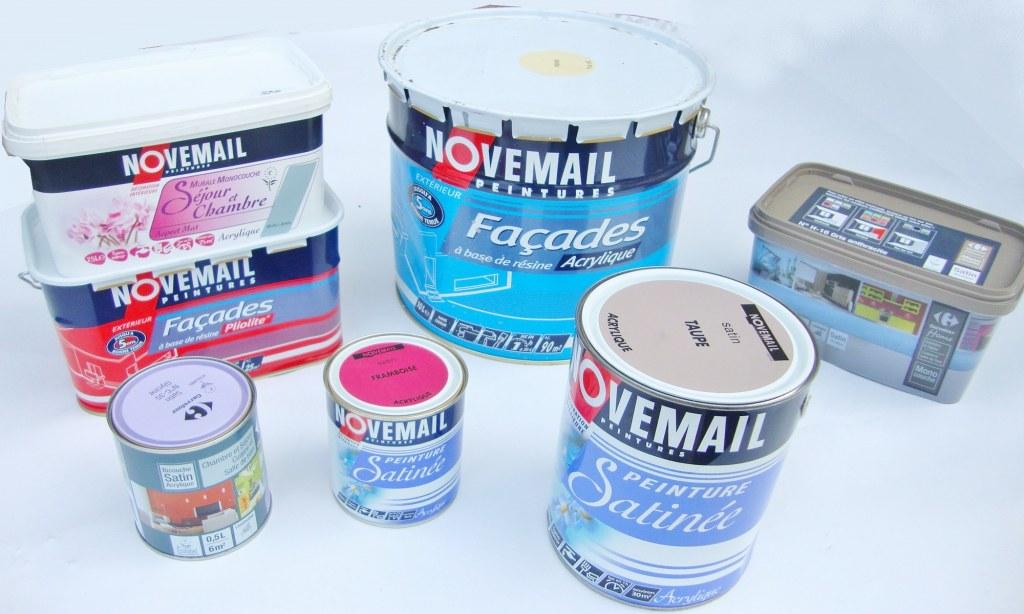 Lot de peinture novemail carrefour destockage grossiste for Peinture pour email