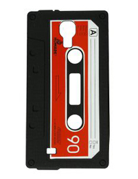RETRO TAPE Coque souple silicone pour Samsung Galaxy SIV i9500