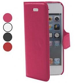 Cross Grain Leather Case Lignes PU pour iPhone 5