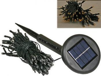 Guirlande lumineuse solaire 6m 40 led destockage grossiste for Guirlande lumineuse exterieur solaire