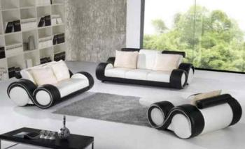Ensemble CANAPE Cadiz PPP Design Cuir Destockage Grossiste - Canapé design en cuir