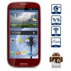 4,7 Note pouces Android 4.0 3G S3 Smart Phone avec écran WVGA Dual Core Dual SIM WiFi...