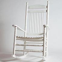 Rocking Chair Ou Chaise A Bascule Blanc En Chene