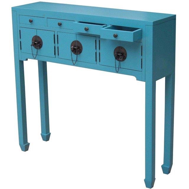 Console table haute chinois en pin destockage grossiste - Console depliable en table ...