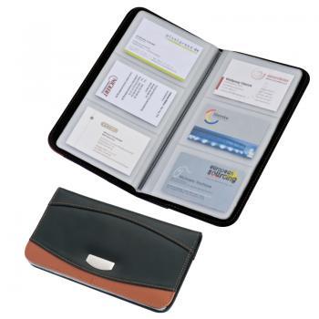 Porte cartes de visite en cuir 2 tons destockage grossiste - Porte carte de visite cuir ...
