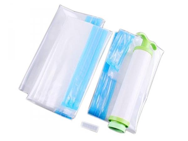 3 sacs de rangement sous vide pompe incluse destockage. Black Bedroom Furniture Sets. Home Design Ideas