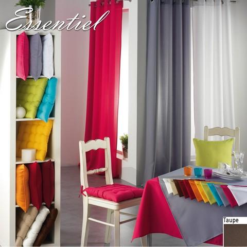 double rideau essentiel taupe illets ou passant 140 x 260 destockage. Black Bedroom Furniture Sets. Home Design Ideas