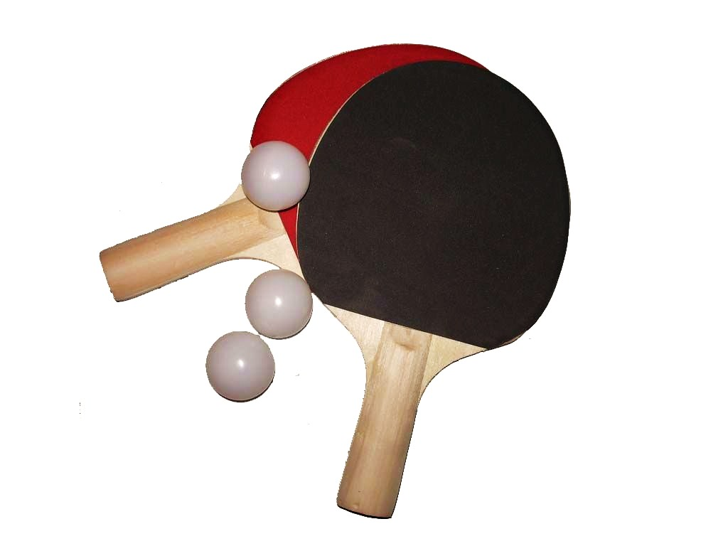 Lots 2 raquettes de tennis de table simples 3 balles - Revetement de raquette de tennis de table ...