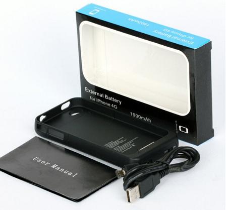 coque rechargeable batterie externe iphone 4 et 4s. Black Bedroom Furniture Sets. Home Design Ideas