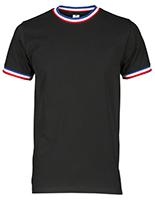 T-shirt homme noir col FRANCE