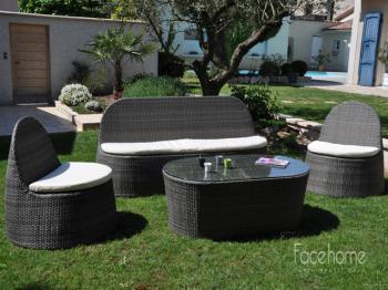 Salon de jardin -Pebble- FACEHOME Destockage Grossiste