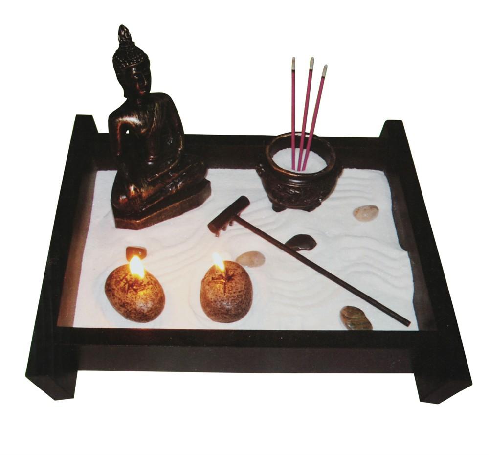 jardin zen avec bouddha 25x25cm neuf destockage grossiste. Black Bedroom Furniture Sets. Home Design Ideas