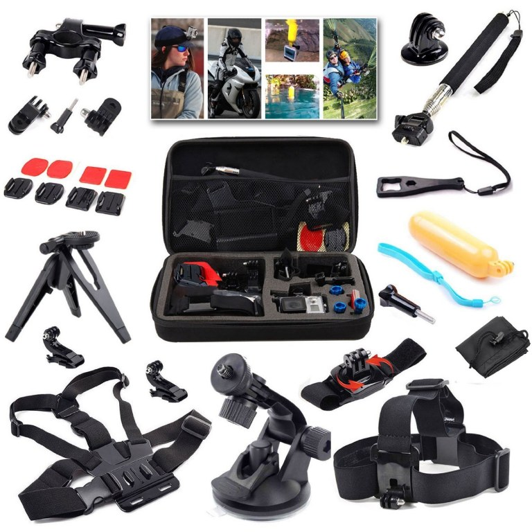 malette lot de 21 accessoires professionnels pour gopro. Black Bedroom Furniture Sets. Home Design Ideas