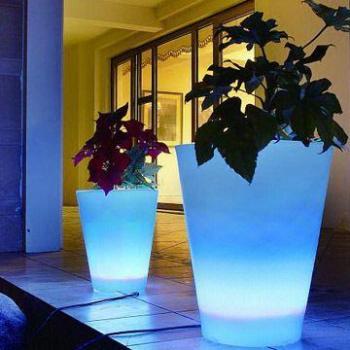 Led rgb pot de fleurs lumineux int et ext t l commande for Bouquet de fleurs lumineux