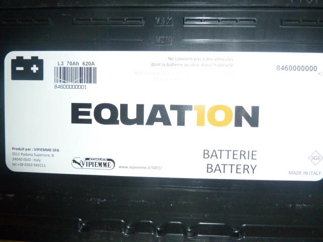 batterie voiture equation