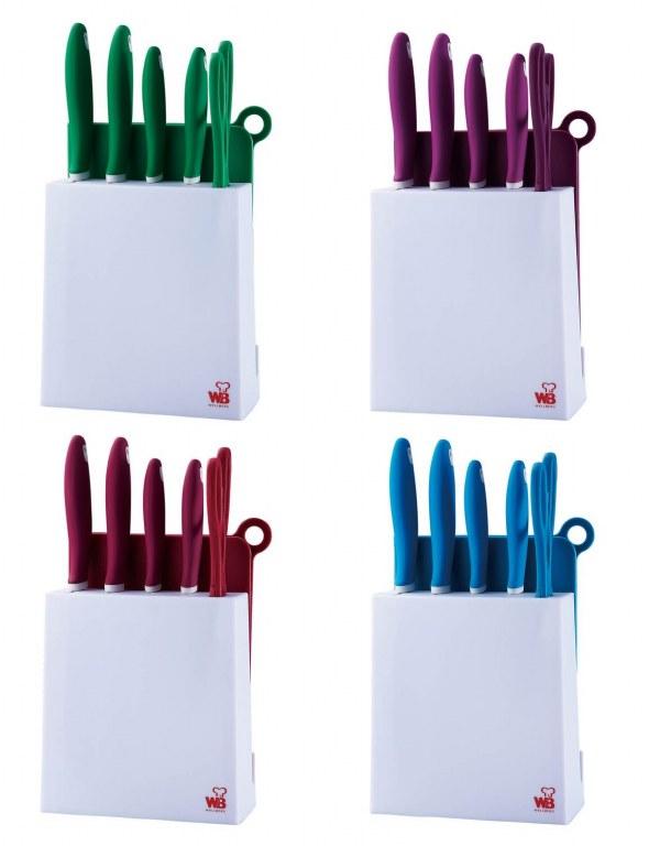 Set de couteau de cuisine 7 pcs support blaumann bl 1341 for Acheter des couteaux de cuisine