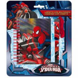 Bloc Notes + Stylo Cordon Spiderman Marvel