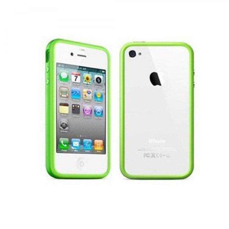 Lot de Bumper Vert boutons métalliques- coque de contour pour iPhone