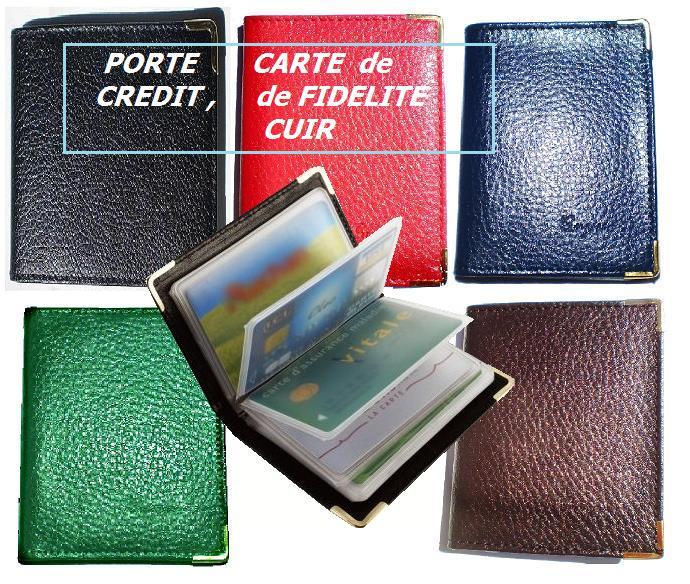 Lots de porte cartes de fidelite de credit en cuir for Porte carte de fidelite