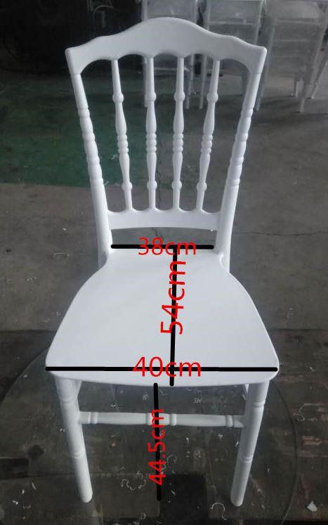 Chaise napoleon blanche en polypropylene destockage grossiste - Grossiste chaise napoleon ...