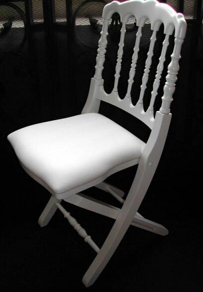 Chaise Napoleon III Pliante Laque Blanche