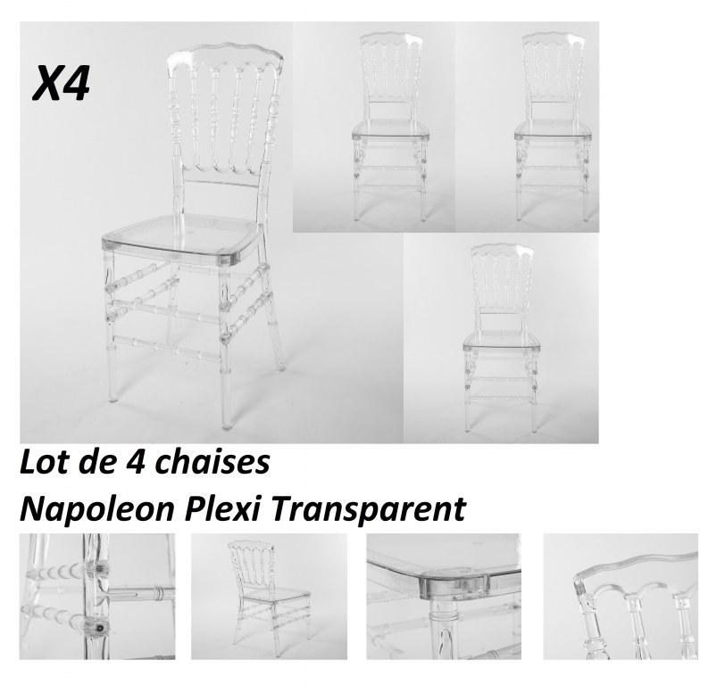 chaises transparente en plexi napoleon destockage grossiste. Black Bedroom Furniture Sets. Home Design Ideas