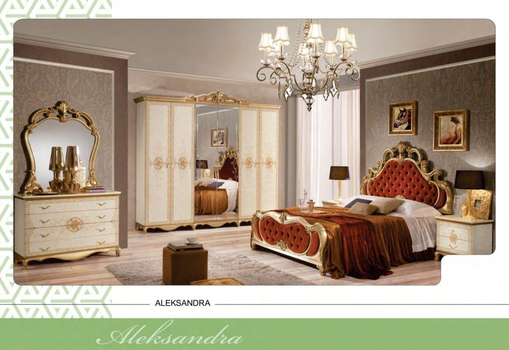 Chambre style baroque 126 events destockage grossiste for Chambre style baroque