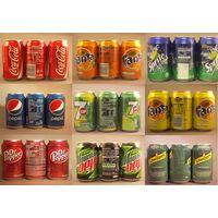 Boissons en canettes et bouteilles (Coca Cola, Fanta, Oasis, Schweppes, Tropico, 7up