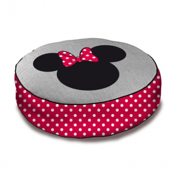 coussin de sol rond disney minnie destockage grossiste. Black Bedroom Furniture Sets. Home Design Ideas
