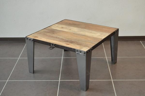Table basse carr industriellle destockage grossiste - Destockage table basse ...