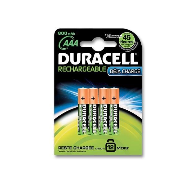 Duracell - Pile Rechargeable - AAAx4 (LR03) et AAx4(LR06) Destockage
