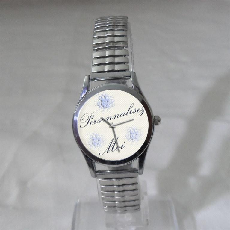 Montre femme bracelet extensible personnalisable