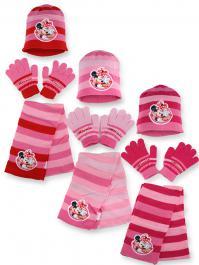 Set 3 pièces Minnie Disney BONNET + GANTS + ECHARPE Minnie Disney