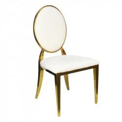 Grossiste chaise médaillon or