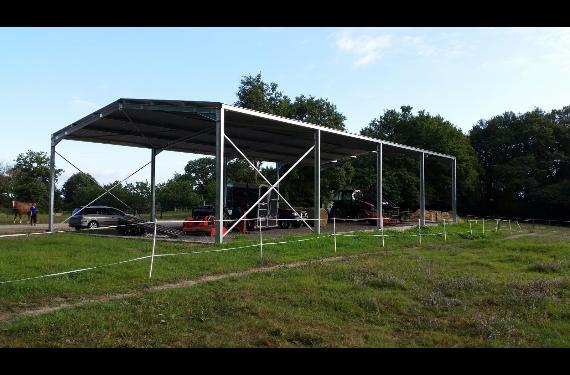 hangar en kit galvanis chaud de 300m destockage grossiste. Black Bedroom Furniture Sets. Home Design Ideas