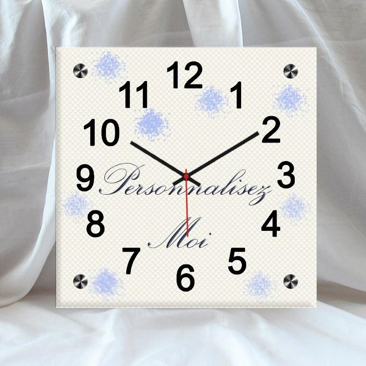 horloge murale carr e personnalisable destockage grossiste. Black Bedroom Furniture Sets. Home Design Ideas