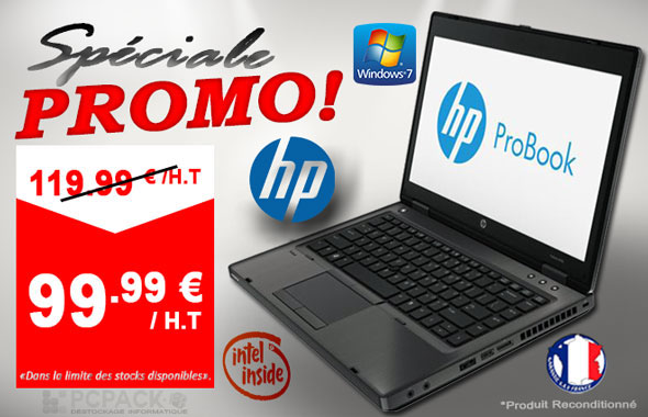 speciale promo pc portable hp probook 6460b destockage grossiste. Black Bedroom Furniture Sets. Home Design Ideas
