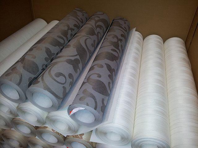 Stock de papier peint made in Germany 1.10€/kg.roulos Destockage