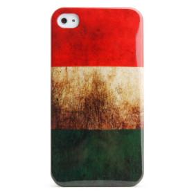 De protection style rétro boîtier en polycarbonate pour iPhone 4 et 4s (hungarianflag)