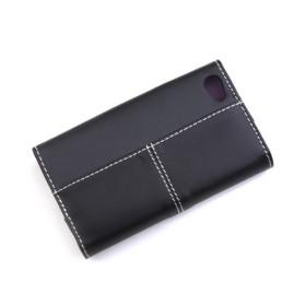 Etui en Cuir PU, Portefeuille pour iPhone 4 - Noir/Violet