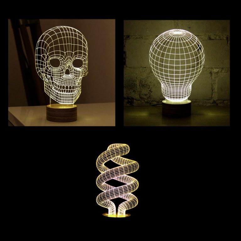 lampe veilleuse led 3d filaire destockage grossiste. Black Bedroom Furniture Sets. Home Design Ideas