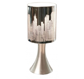 Lampe touch new york city argent e tactile destockage grossiste - Lampe tactile conforama ...