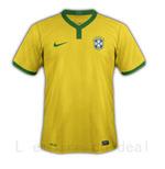 Maillot equipe du BRESIL , Coupe du monde 2014