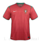 Maillot equipe PORTUGAL , Coupe du monde 2014